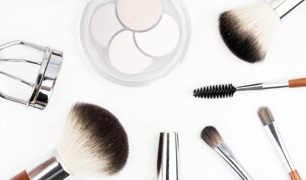 various makeup items