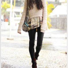 Model wearing jessica simpson leggings