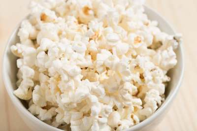 bowl of popcorn on table