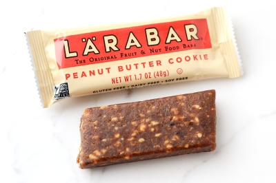 unwrapped lara bar with wrapper