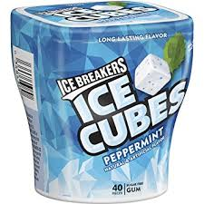 ice breakers ice cube gum package